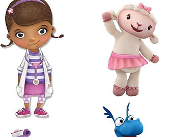 DIGITAL Doc McStuffins Centerpieces - Disney Doc McStuffins - Lambie Stuffy  Chilly Hallie - Print at - Doc Mcstuffins Lambie PNG