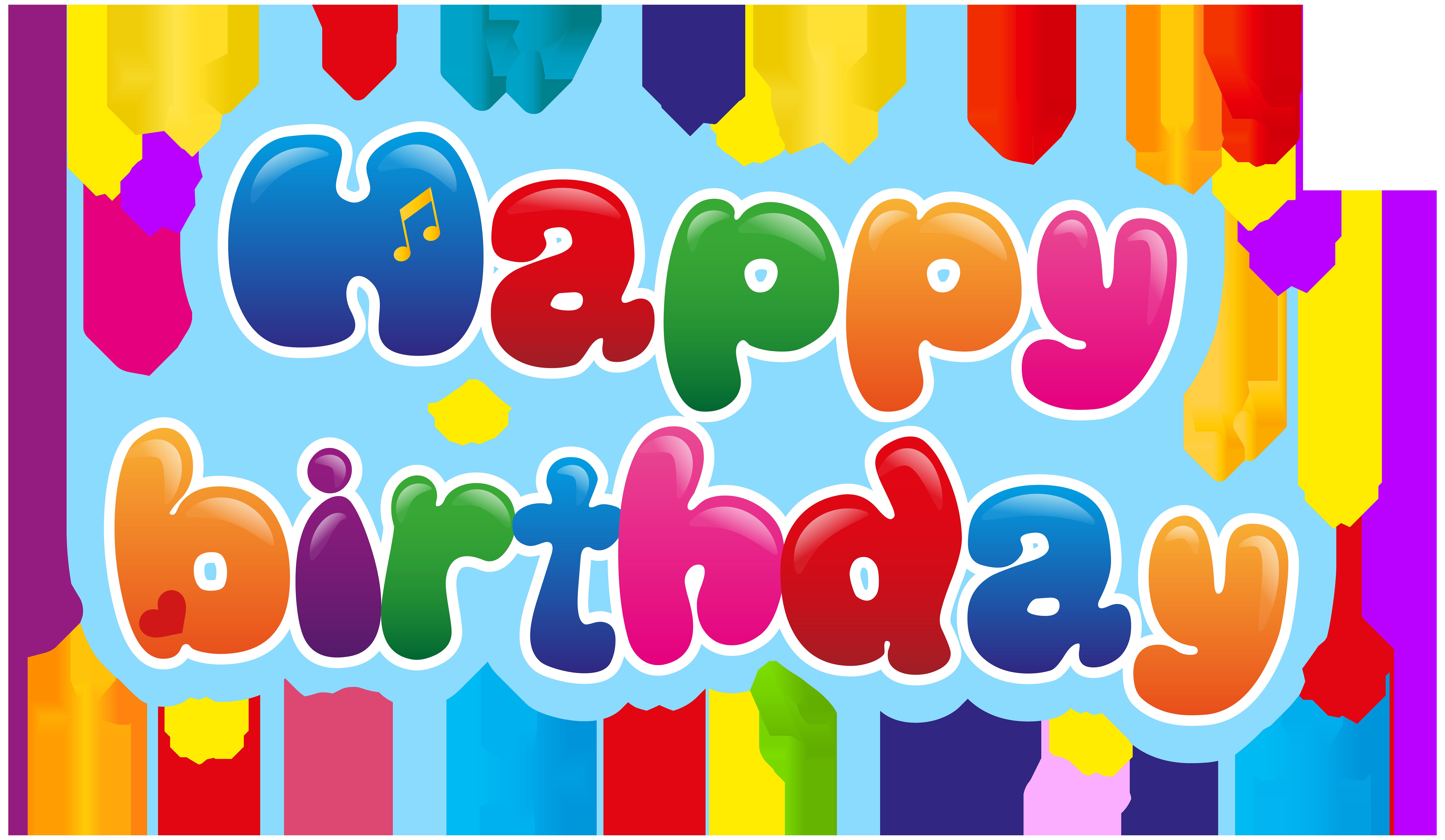 Cute Happy Birthday PNG Clip Art Image