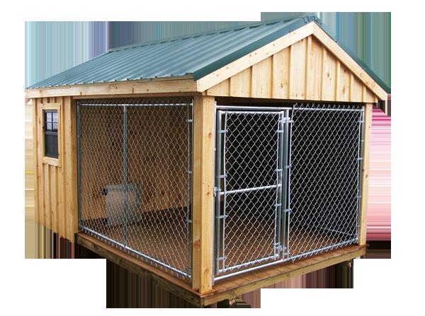 8u0027 x 10u0027 Dog Kennel Shown with Dura-Temp Siding - Dog Kennel PNG