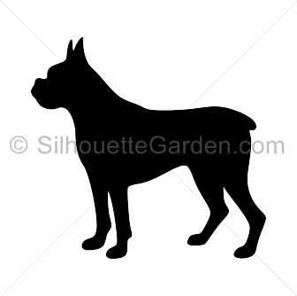 Boxer dog silhouette clip art. Download free versions of the image in EPS,  JPG - Dog PNG Jpg