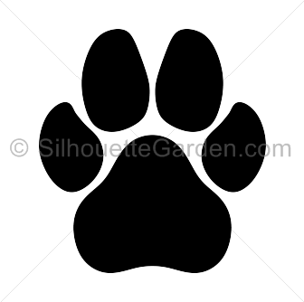 Dog paw print silhouette clip art. Download free versions of the image in  EPS, - Dog PNG Jpg