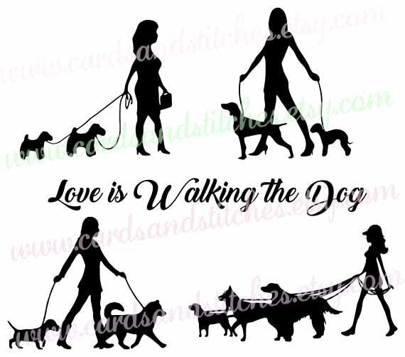 Dog Walker SVG - Lady Dog Walker SVG - Dogs SVG - Digital Cutting File - - Dog PNG Jpg