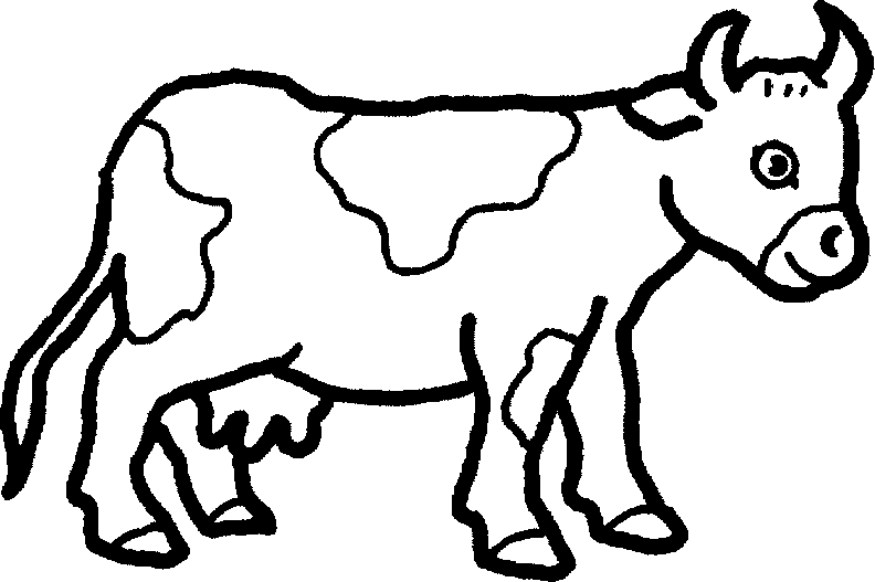 Farm Animal Black And White Clipart - Clipart Kid - Domestic Animals PNG Black And White