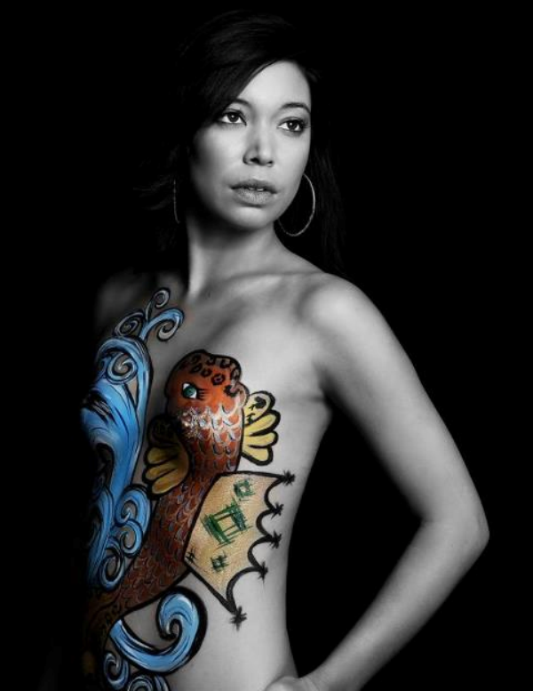 Double Jeopardry bodypaint - Body Art PNG
