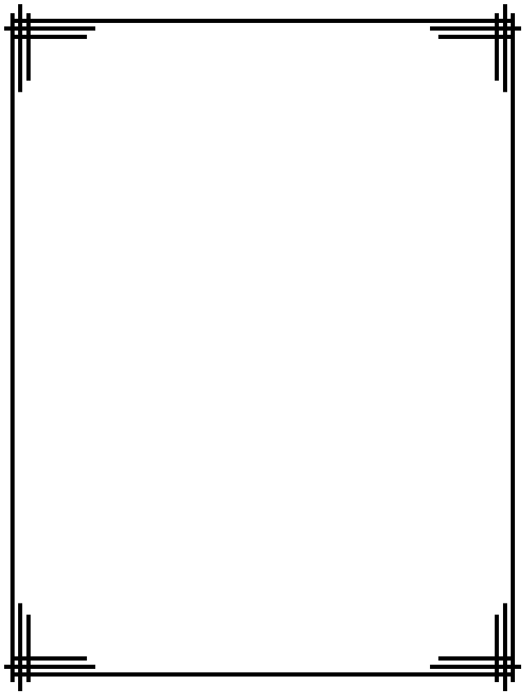 Simple Line Border - Double Line Border PNG
