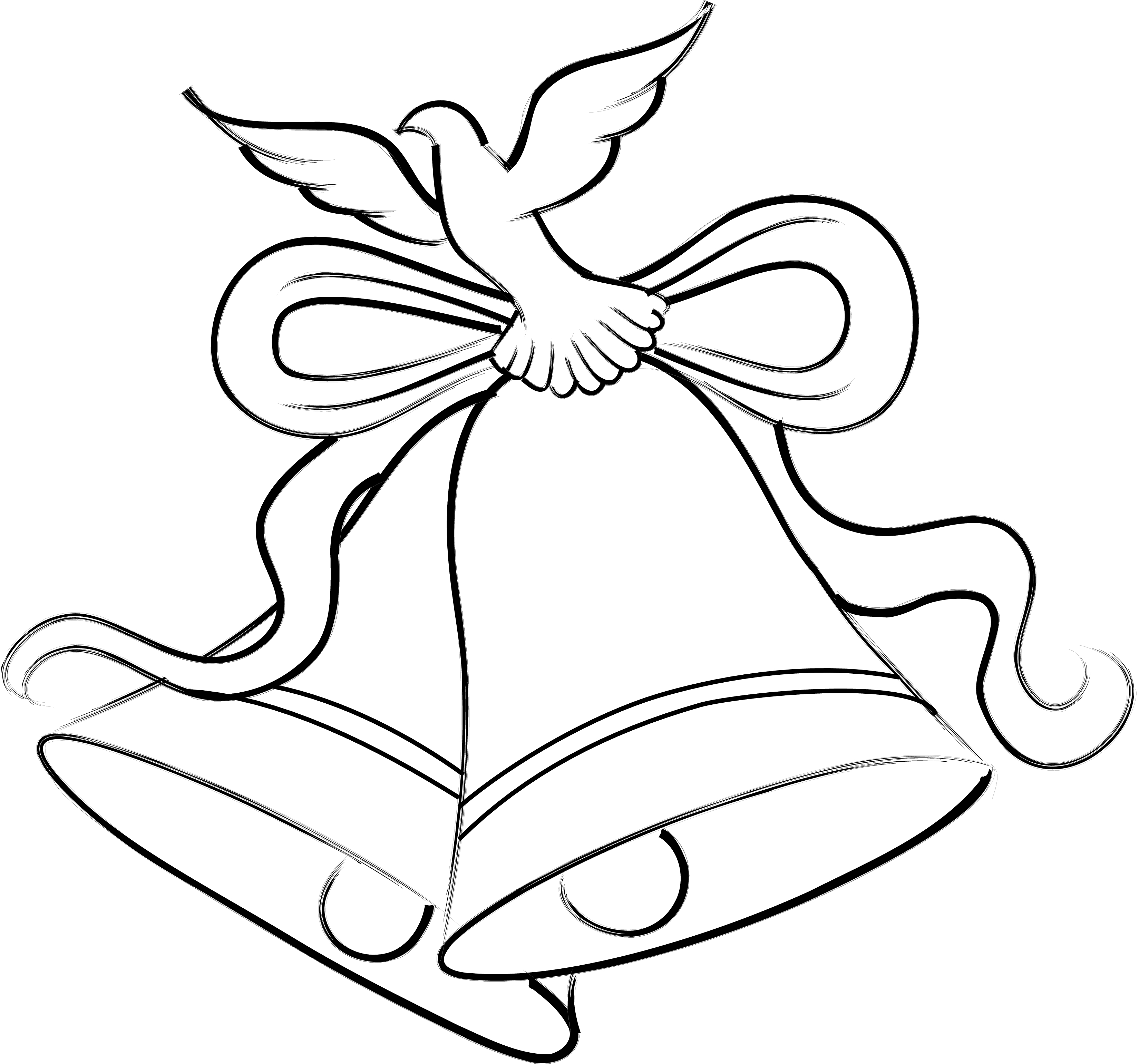 Dove Wedding PNG Black And White - 136004