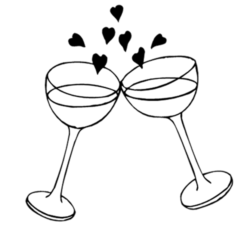 Dove Wedding PNG Black And White - 136005