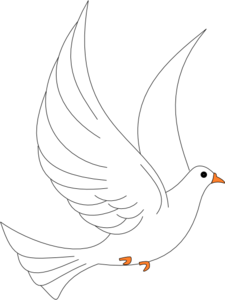 Dove Wedding PNG Black And White - 135999