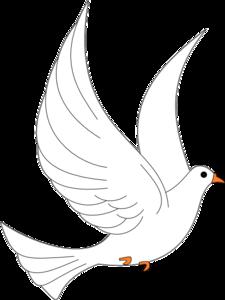 Dove Clip Art - Dove Wedding PNG Black And White