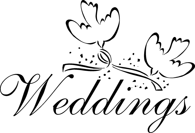 Dove Wedding PNG Black And White - 135998