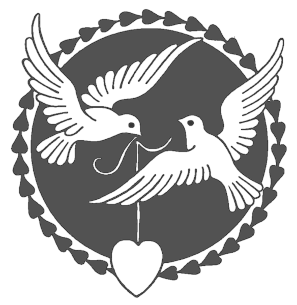 Dove Wedding PNG Black And White - 135997