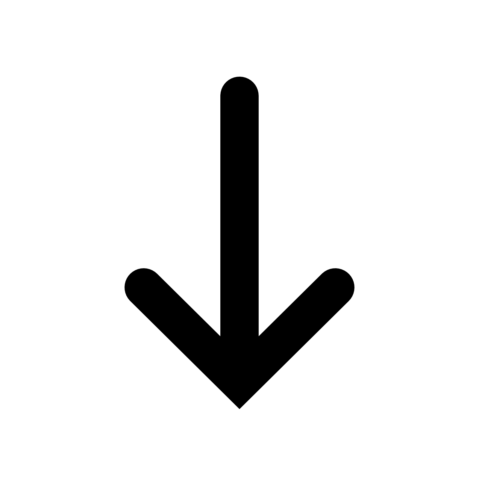 Down Filled icon - Down Arrow PNG