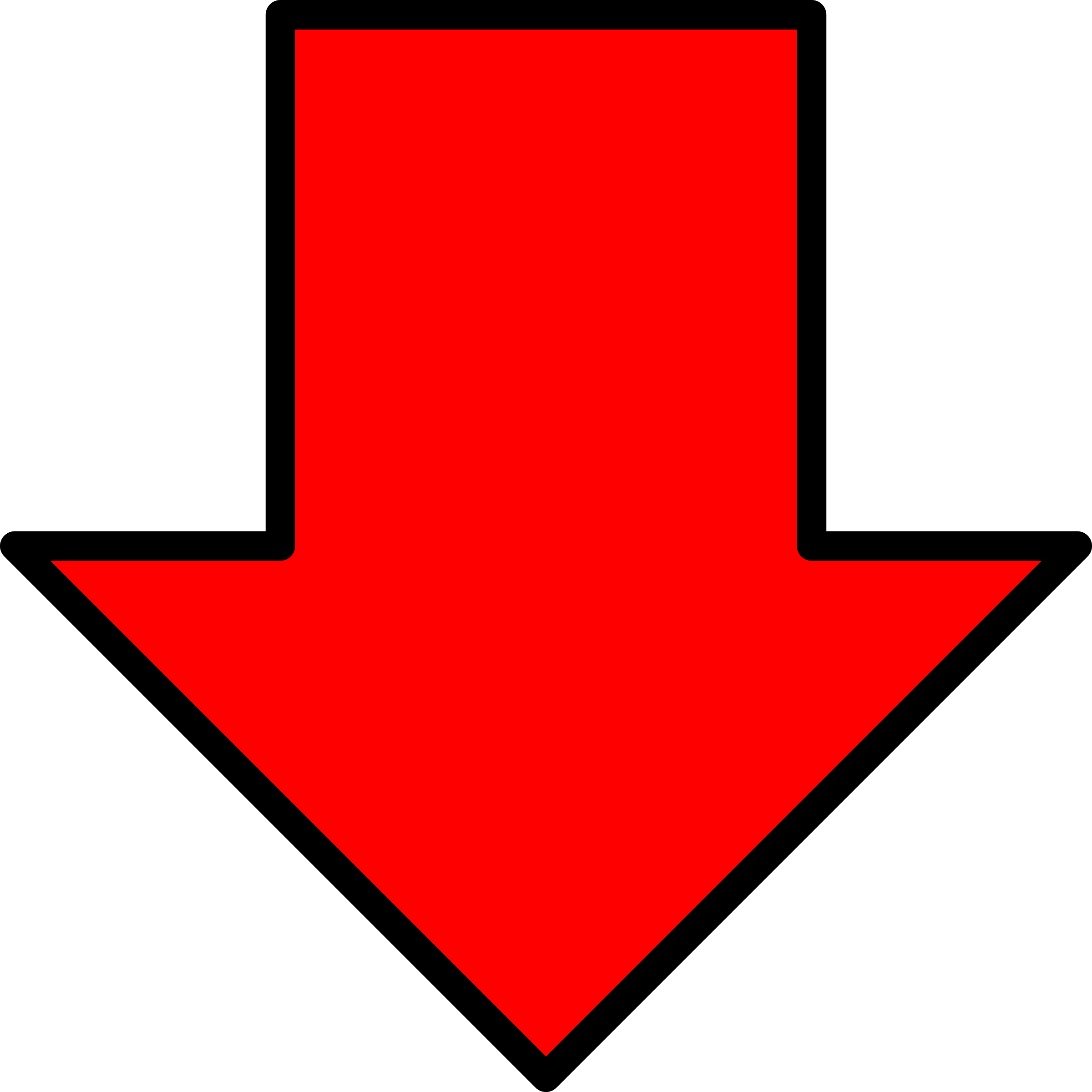 Red Arrow Down Icon Png image #6708 - Down Arrow PNG