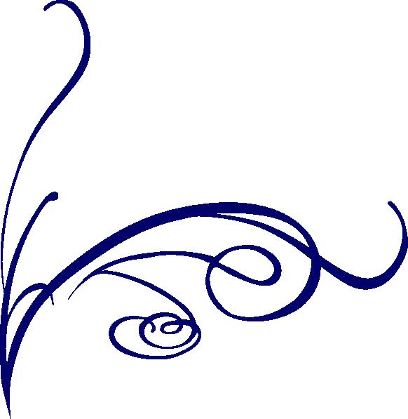 Decorative Line Blue PNG - 1100
