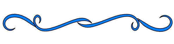 Decorative Line Blue PNG - 1099