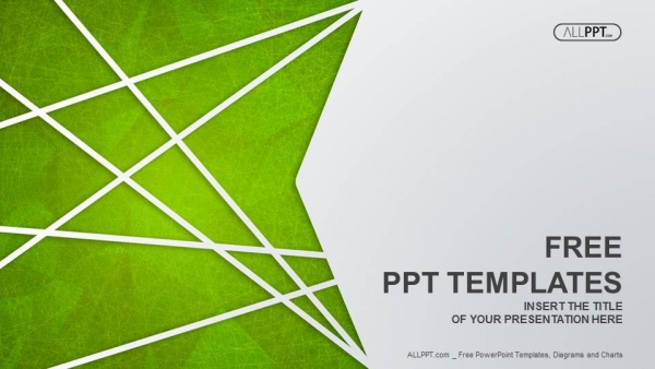 Abstract PPT Templates, Green PPT, PPT Templates, Simple PPT - Download PNG HD For Powerpoint