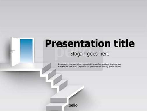 Want An Impressive Powerpoint Presentation? Then Download This  Stairway-themed, Full HD Slides - Download PNG HD For Powerpoint