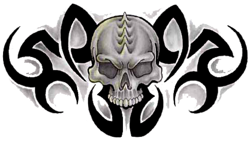 Download PNG image - Tribal Skull Tattoos Free Png Image - Tribal Skull Tattoos PNG
