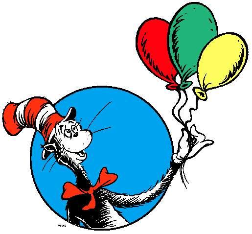Dr seuss hat fish clipart free clip art images image 4 - Dr Seuss Day PNG