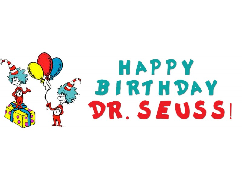 Happy Birthday Dr. Seuss - Dr Seuss Day PNG