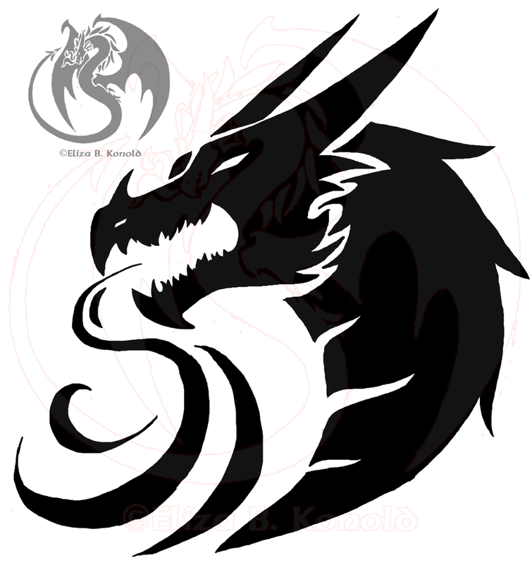 . PlusPng.com Dragon Tattoo Logo 3 New Updated By Firethroat D20oe33.png PlusPng.com  - Dragon Tattoos PNG