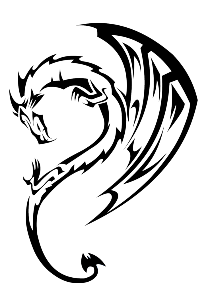 . PlusPng.com Dragon Tattoo Transparent 4 Dragon Tattoos Free PNG Image.png PlusPng.com  - Dragon Tattoos PNG