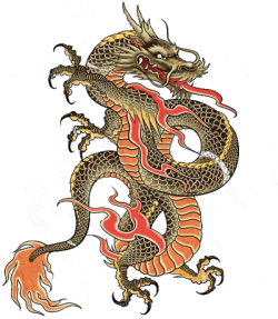 Good Pix For Chinese dragon tattoo png - Dragon Tattoos PNG
