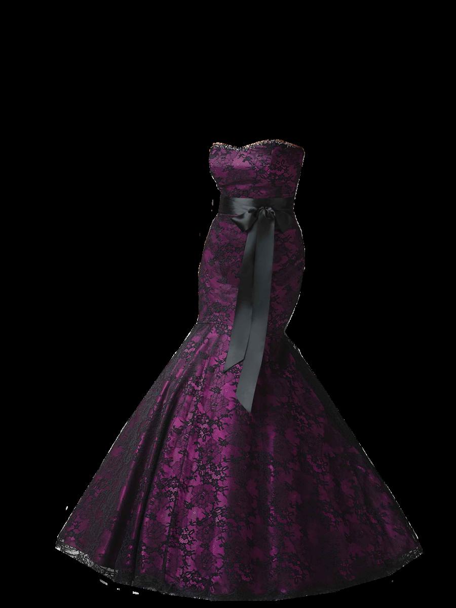 Black Purple Dress Png image #26091 - Dress PNG