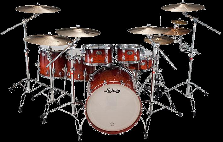 Ludwig Drum Kit.PNG - Drum PNG