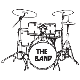 My Drum Set Wall Decals - Drum Set PNG Black And White