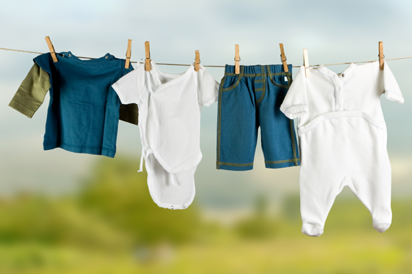 Baby Clothes Hang On A Wire - Dry Clothes PNG