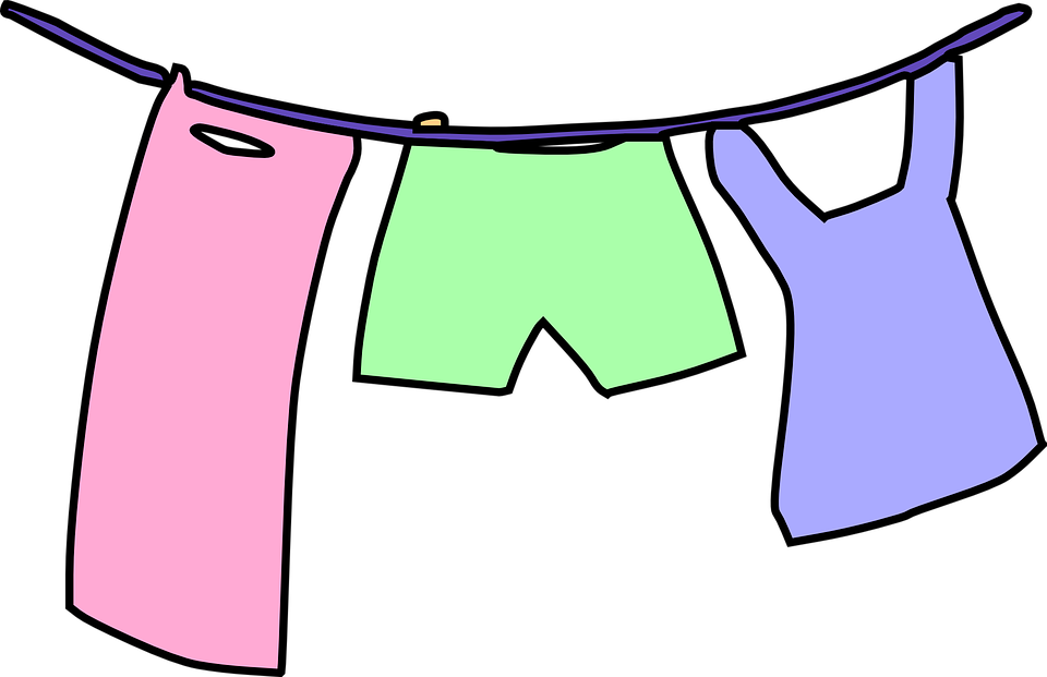 Clothesline Laundry Drying Line Clean Clothes Dry - Dry Clothes PNG