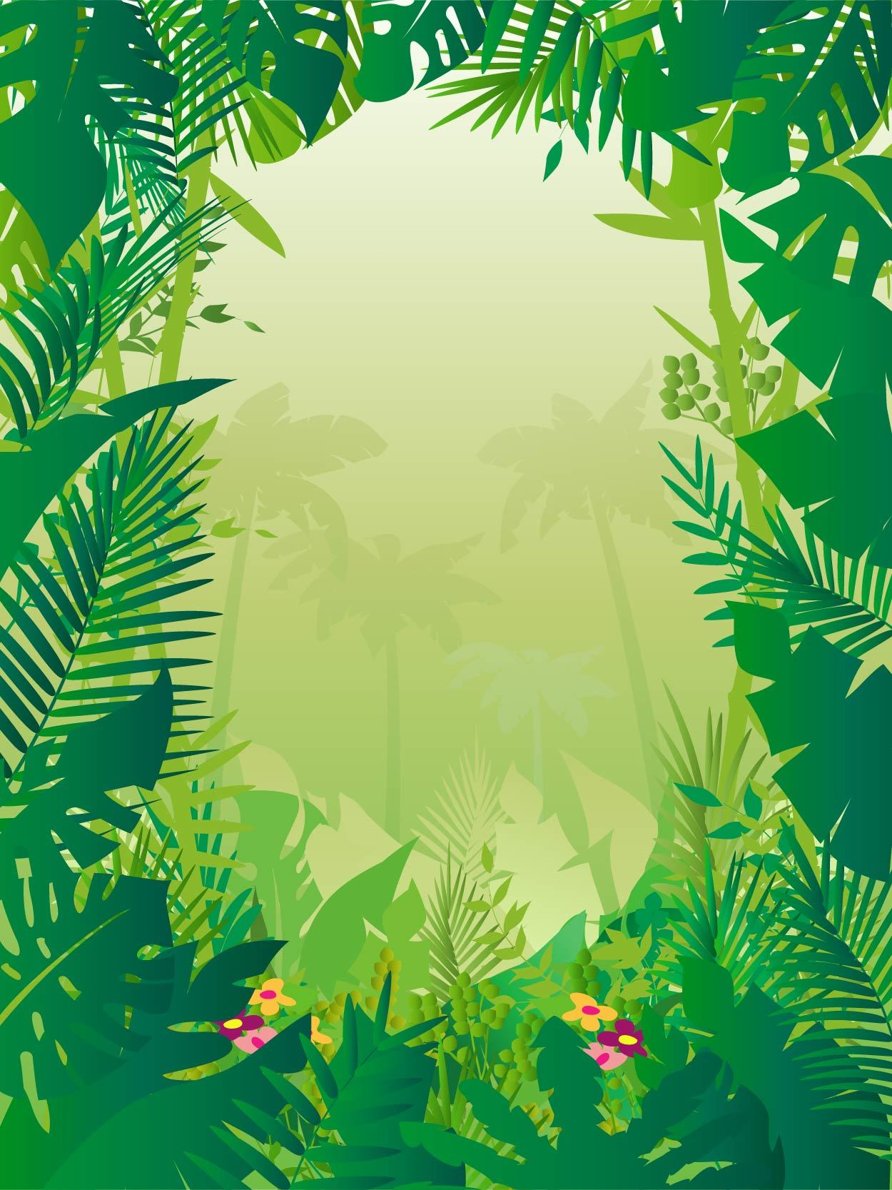 7a6d3239237df27124e5fd1bb97c5362-tropical-frame-styled-jungle-background.png  (1250× - Dschungel Hintergrund PNG