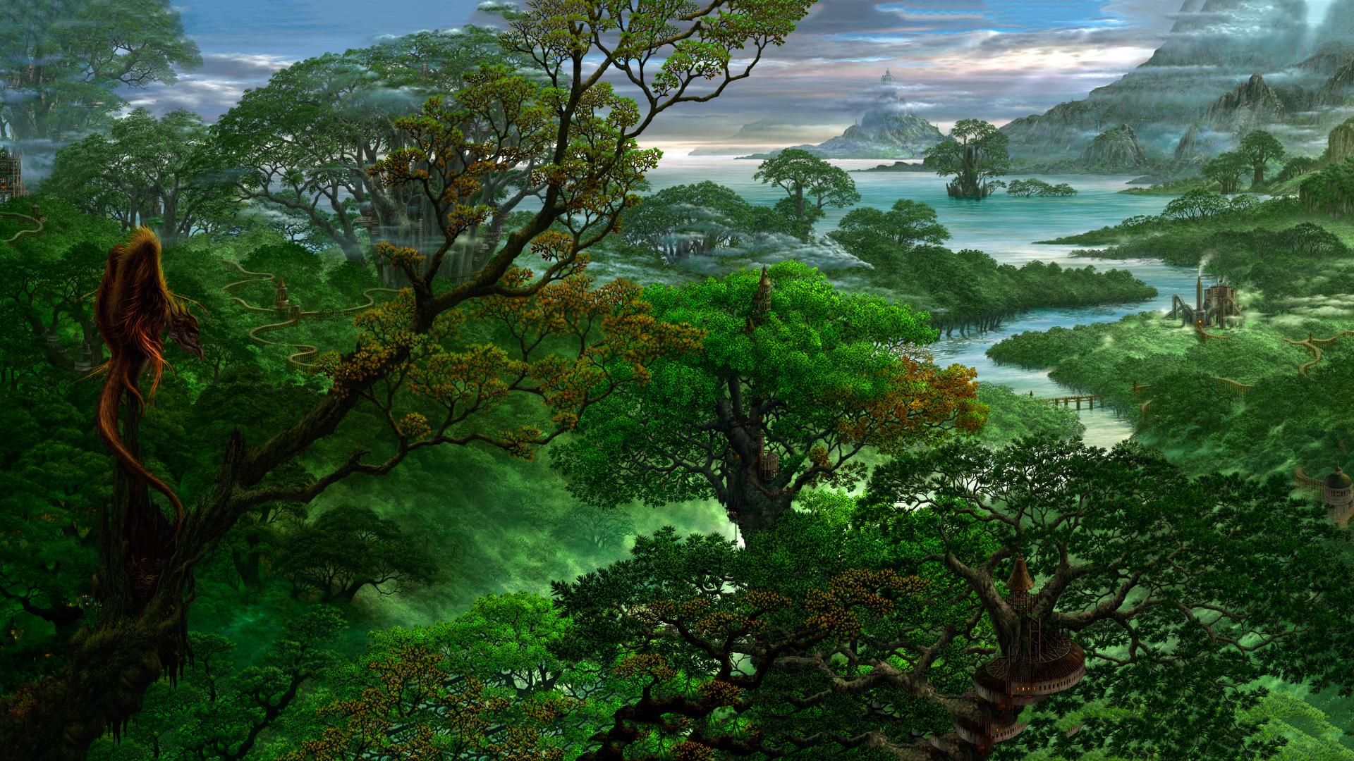 Magische Dschungel - Dschungel Hintergrund PNG