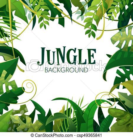 poster., blätter, bäume, tropische , hintergrund., vektor, handfläche, - Dschungel Hintergrund PNG