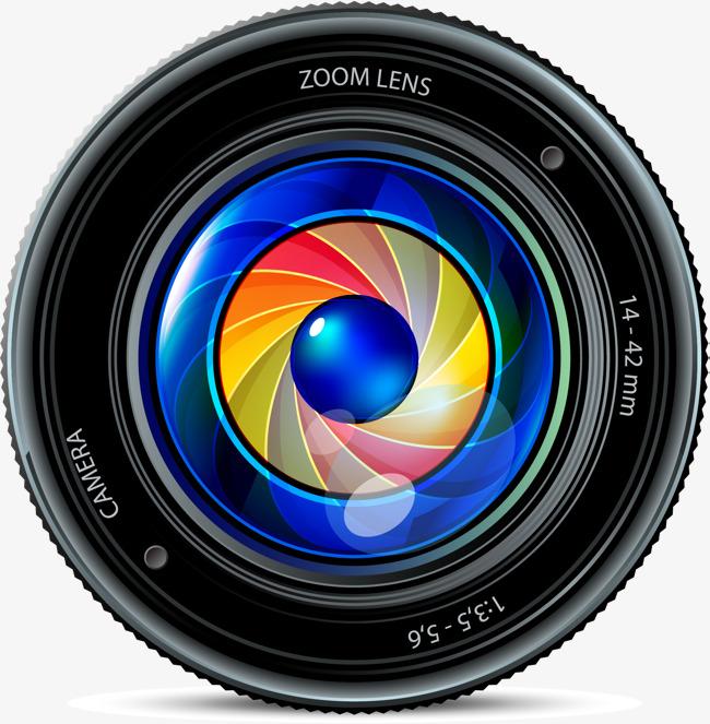 SLR camera lens, Vector Material, Camera Lens, SLR Cameras PNG and Vector - Dslr Lens PNG