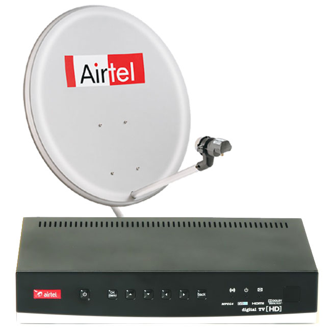 Airtel Digital TV launches 4K UHD channel after Tata Sky and Videocon d2h - Dth Antenna PNG