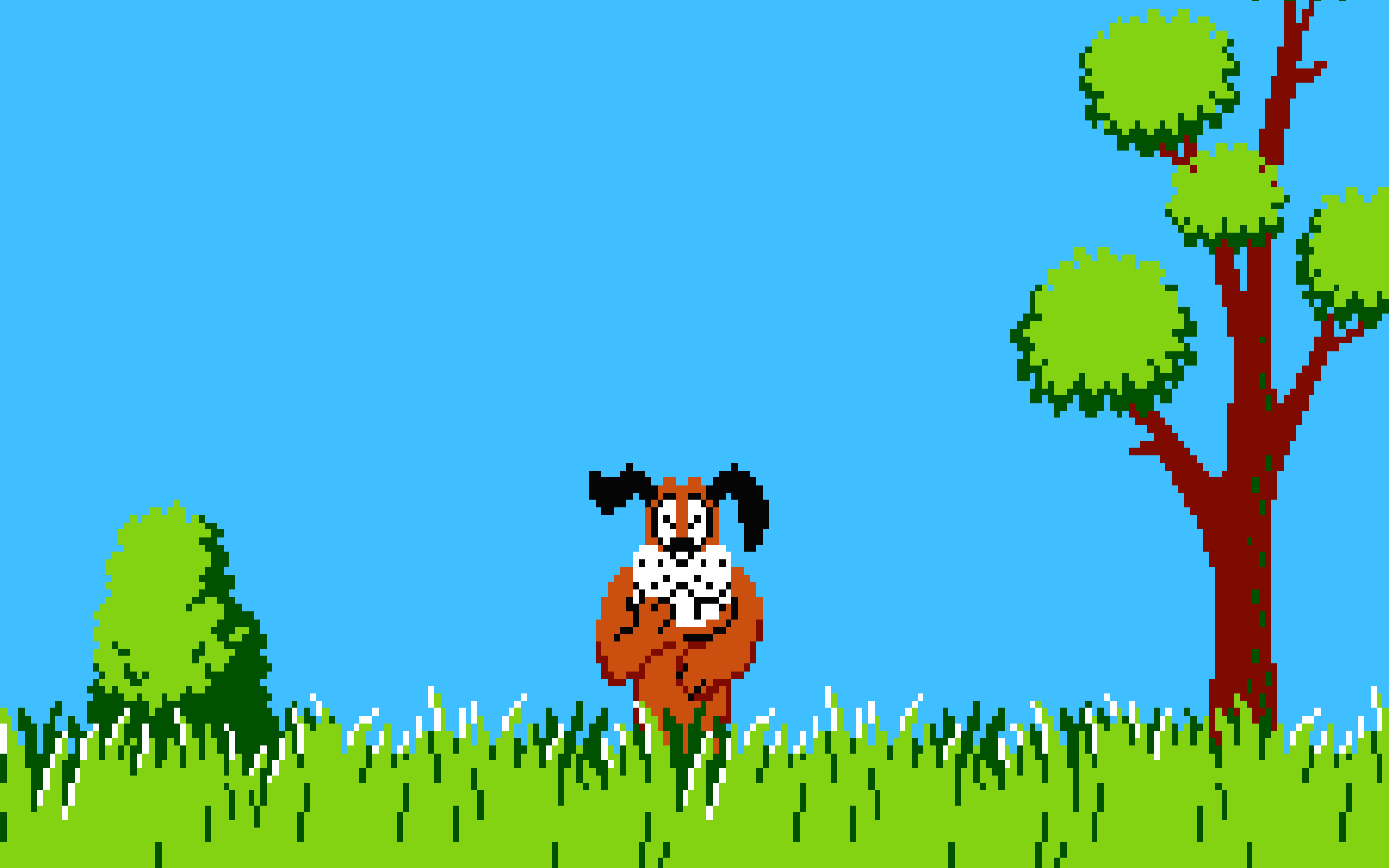 duck hunt 8 bit nintendo entertainment system dog Wallpapers HD . - Duck Hunting PNG HD