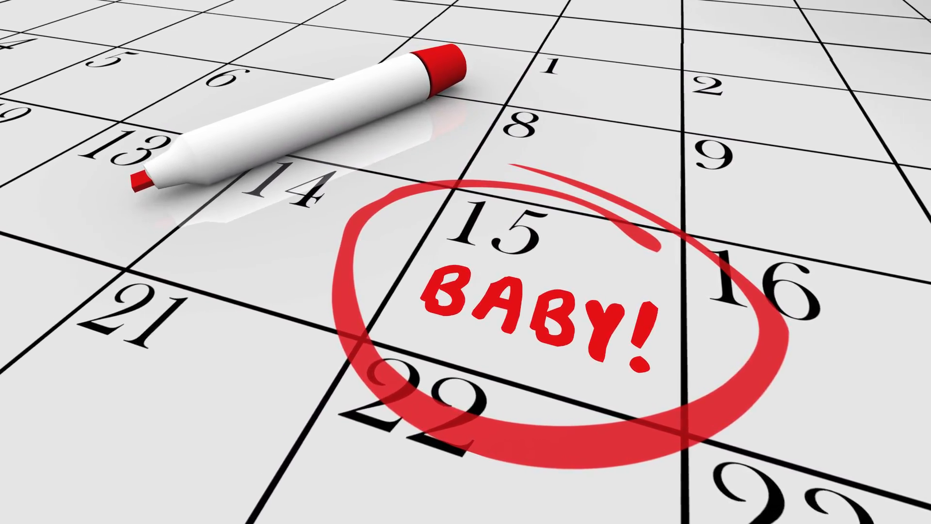 Baby Due Date Delivery Pregnancy Calendar 3d Animation Motion Background -  VideoBlocks - Due Date PNG