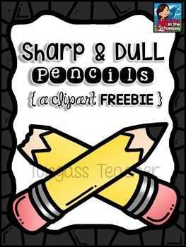 Free Pencil Clipart (Sharp and Dull Pencil Clipart) - Dull Pencil PNG