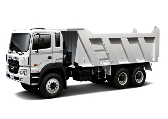Hyundai HD 270 dump truck can haul up to 22 tons of cargo - Dump Truck PNG HD