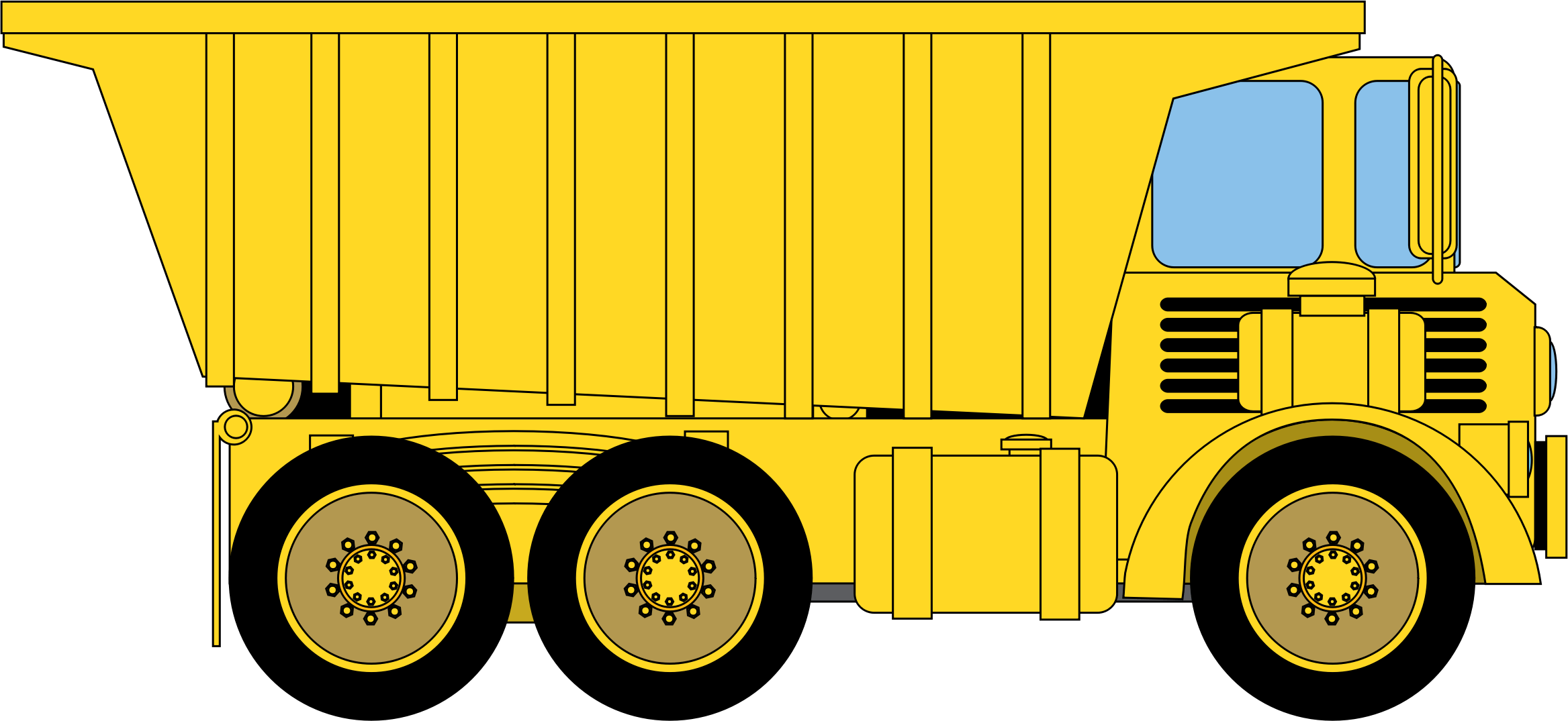 Dump Truck PNG HD - 128009