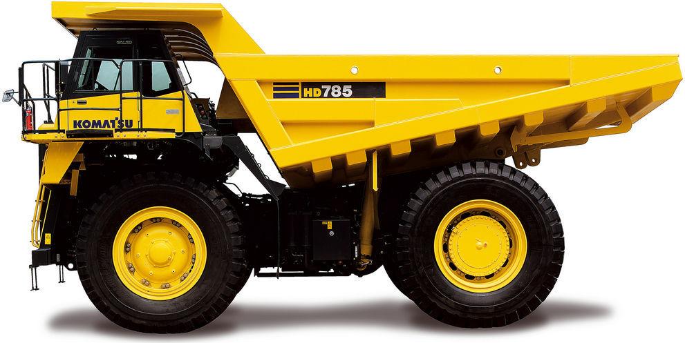 Rigid dump truck / diesel / mining and quarrying - HD785-7 - Dump Truck PNG HD