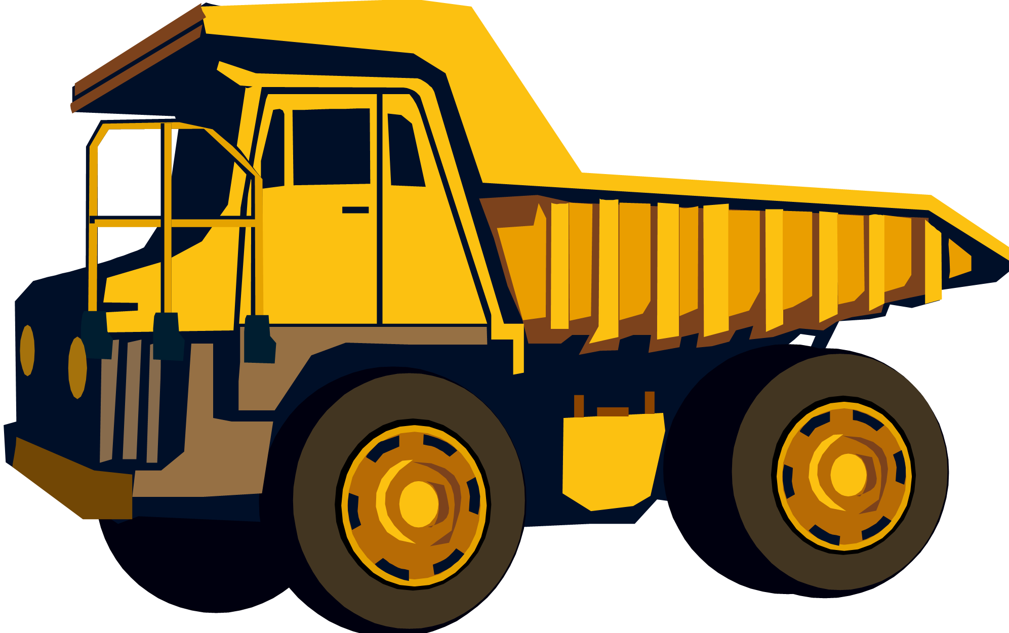 Yellow dump truck clipart - Dump Truck PNG HD