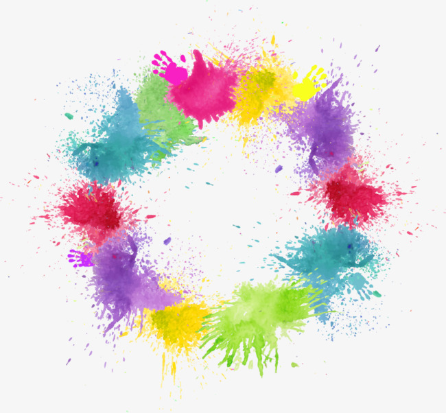 Vector Color splashes, Ink Marks, Color, Dye Free PNG and Vector - Dye PNG