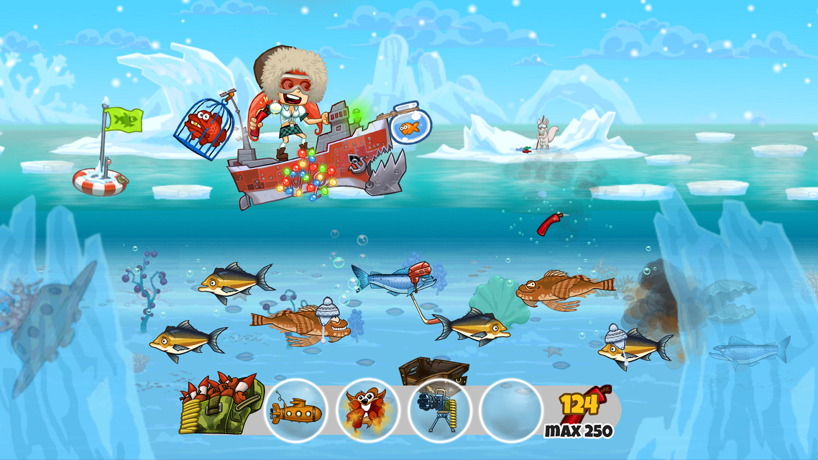 Super Dynamite Fishing Screen