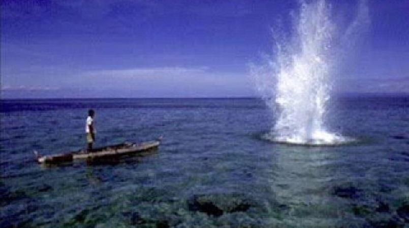 Stop dynamite fishing!