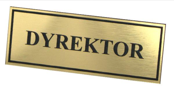 Tabliczka informacyna grawerowana na drzwi dyrektor złota - Dyrektor PNG