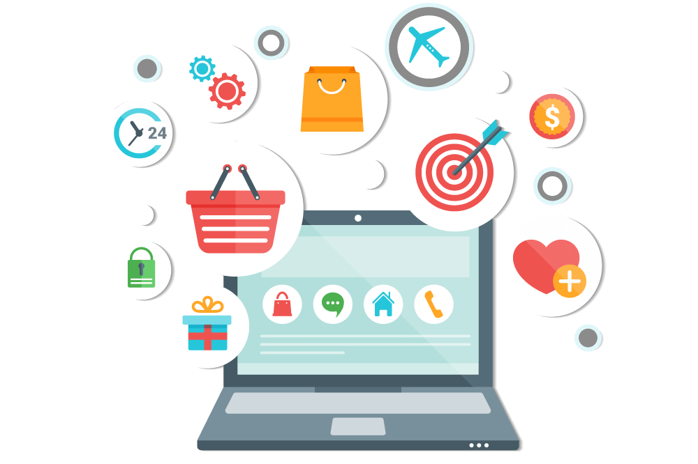 Sell your Products and Services online - E Commerce PNG