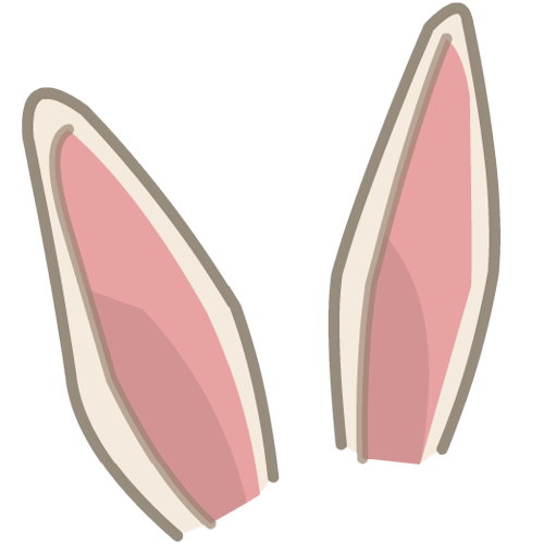 Easter Bunny Ears PNG HD - Ear HD PNG